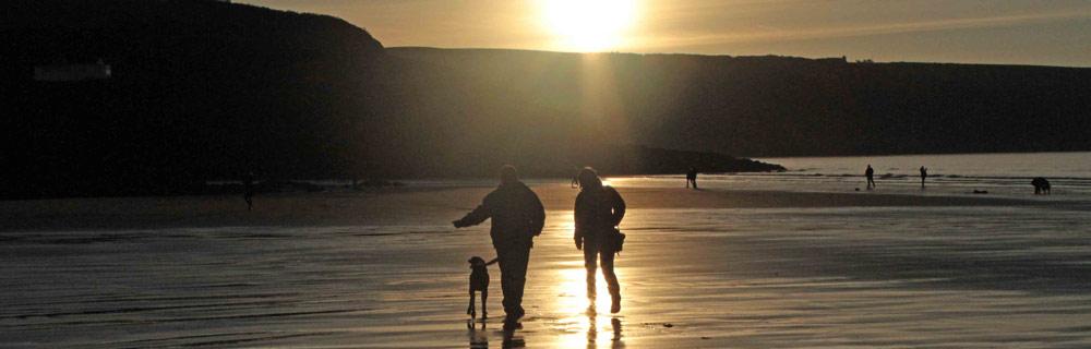 pembrokeshire beach sunset